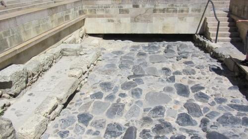Bout de Via Domitia excavée lors de travaux à Narbonne