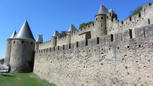 Cité de Carcassonne - Les remparts vus de l'extérieur