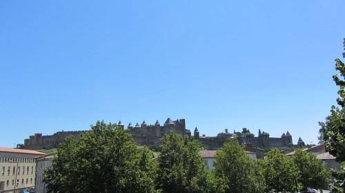 Vue panorama cité de Carcassonne