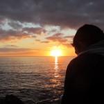 Coucher de soleil sur la plage de Bellangenet (Le Pouldu)