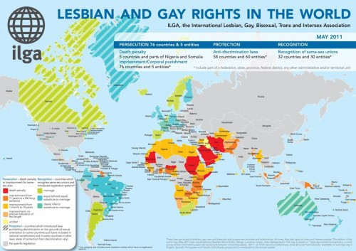 Carte mondiale des droits LGBT