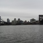 New York - Vue des ponts de Brooklyn et Manhattan