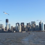 New York - Vue de la Skyline de Manhattan du ferry de Liberty Island