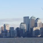 New York - Vue de la Skyline de Manhattan du ferry de Liberty Island