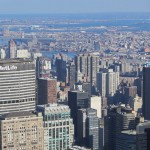 New York - Vue du Chrysler Building et MetLife de l'Empire State Building
