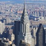 New York - Vue du Chrysler Building de l'Empire State Building