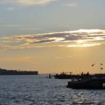 New York - Soleil couchant vers Brooklyn du Pier 17