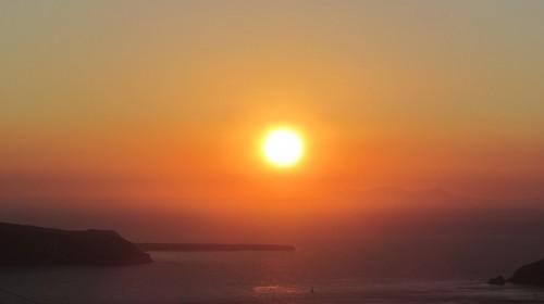 Soleil couchant à Imerovigli - Santorin