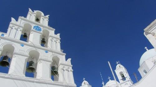 Eglises dans le village de Megalochori