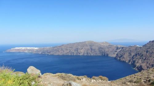 Vue du croissant nord de l'île de Santorin