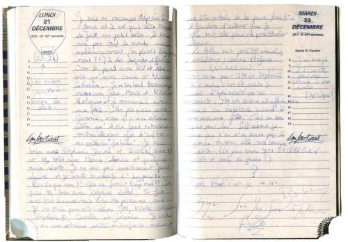 Journal intime lycéen - décembre 1992