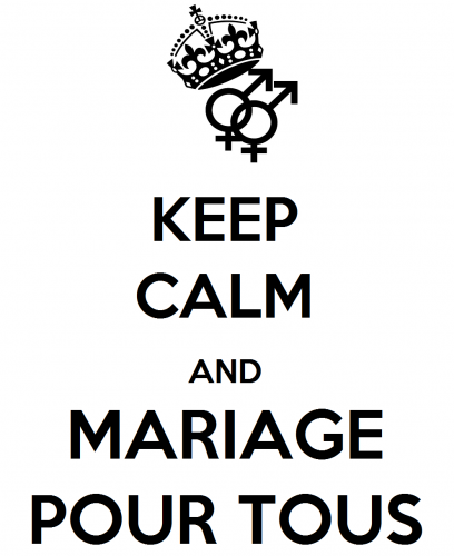 Keep calm and mariage pour tous
