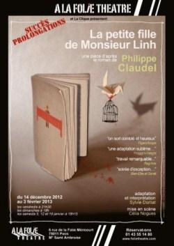 «La petite fille de Monsieur Linh» au Théâtre A la Folie
