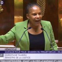 Christiane Taubira - Mariage pour tous à l'Assemblée