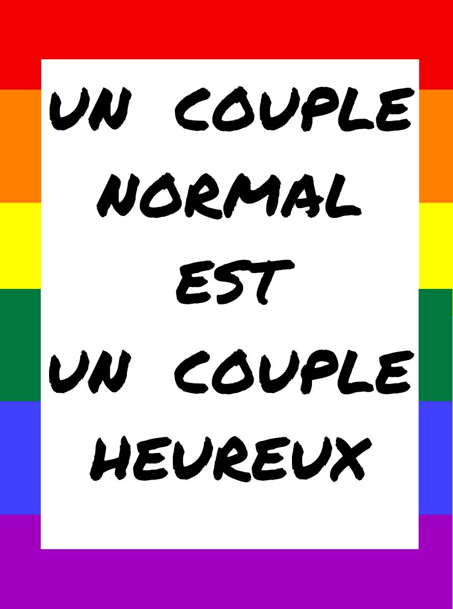 Un couple normal est un couple heureux