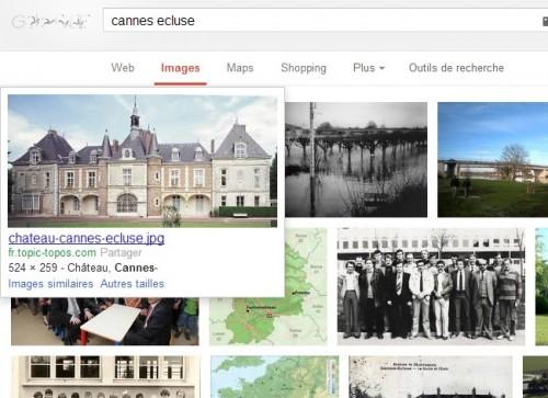Cannes-Ecluse dans Google Images