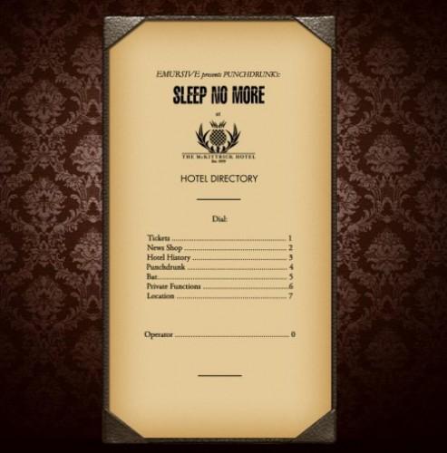 Sleep no more au McKittrick Hotel