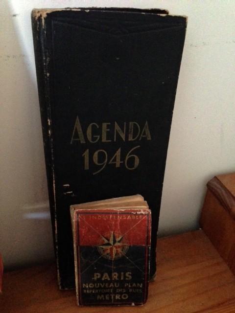 Agenda et plan de Paris de 1946