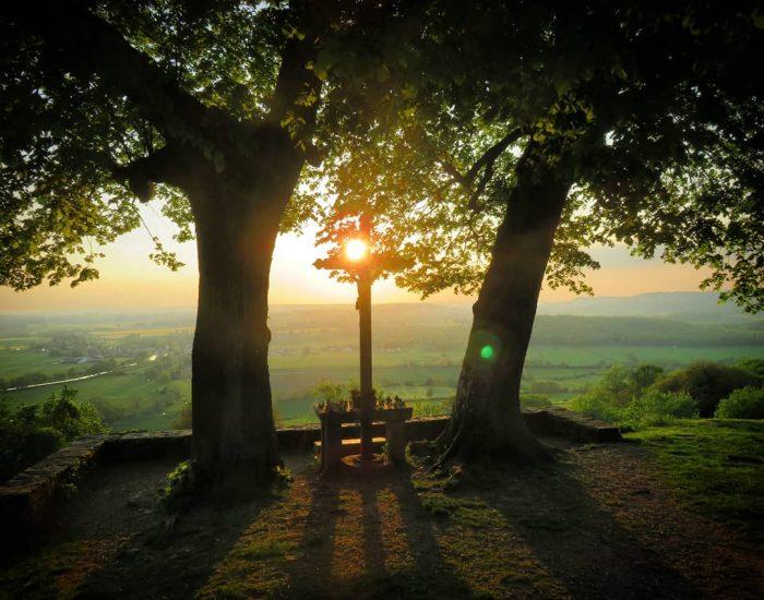 Coucher de soleil à Chateauneuf-en-Auxois
