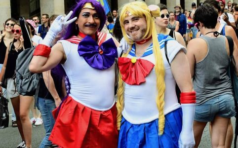 Sailor Moon et Sailor Mars à la Gay Pride 2018 de Paris