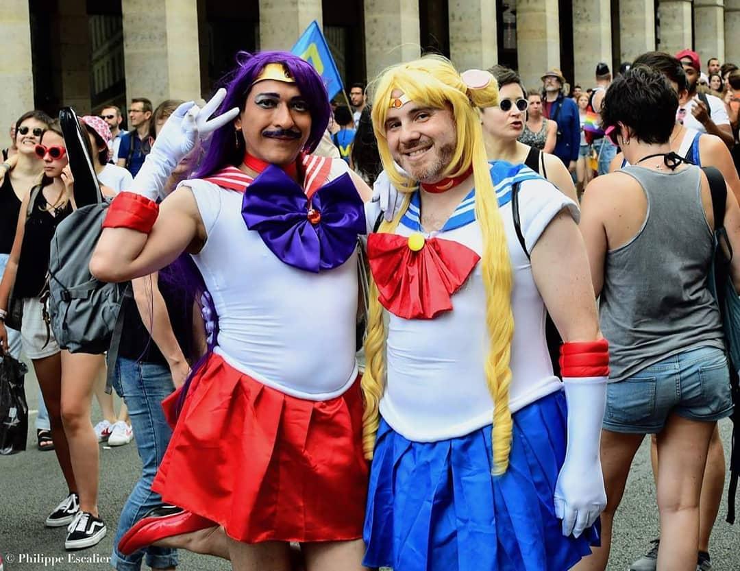 Sailor Moon et Sailor Mars à la Gay Pride 2018 de Paris