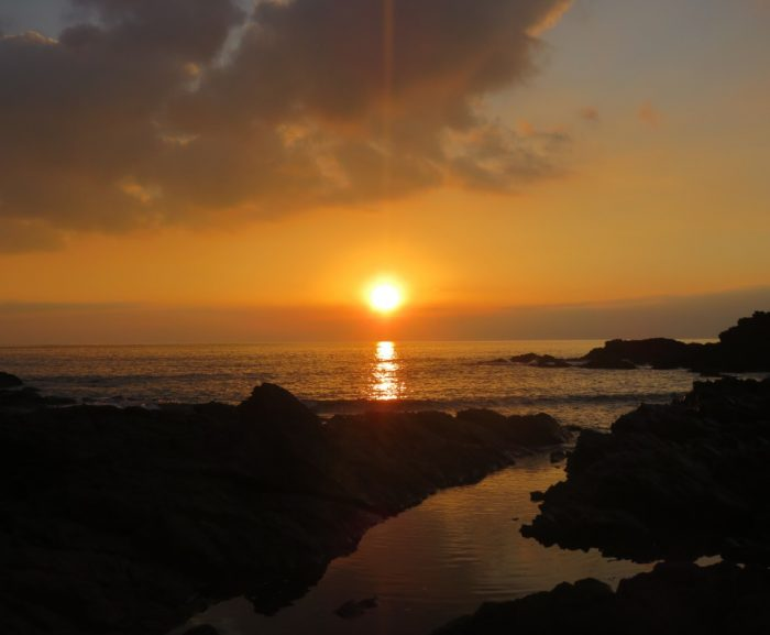 Coucher de soleil à la plage des Américans au Pouldu